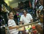 Little Boy Sings the Blues in a Guitar Shop