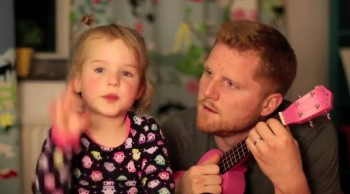 Daddy and Daughter Sing the Most Darling Duet Ever--Awwww!
