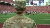 Army Captain Surprises Her Daughter at Big Game