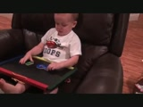 2 year old spells GOD