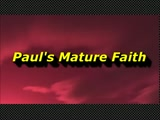 Randy Winemiller - Paul's Mature Faith