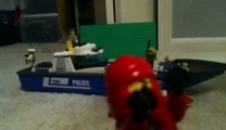 Lego boat fight!!