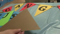 Gangway to Galilee, Concordia's 2014 VBS Decorating - Gangway Flags