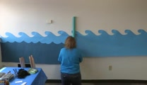 Gangway to Galilee, Concordia's 2014 VBS Decorating - Paper Waves