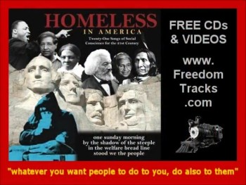 Free CD ~ HOMELESS IN AMERICA ~ Nashville Session Players ~ www.FreedomTracks.com