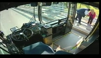 Guardian Angel Bus Driver Saves Woman From Jumping To Her Death