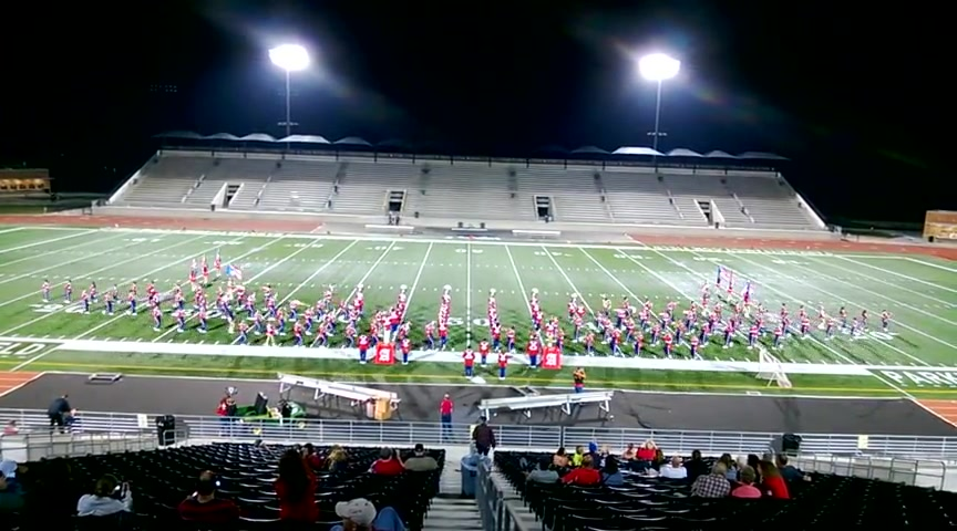 Lightning Strike Chases Marching Band from Field
