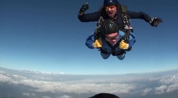 Man celebrates 100th birthday by Going Skydiving! What a Rush!