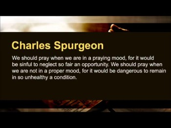 "D.L. Moody: ""Unless the Spirit of God is with us, we cannot expect that our prayers will be answered."" (Prayer Motivator Minute #456)"