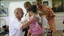 92 Year Old Hero Meets the Little Girl Wh