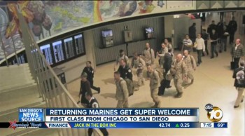 Passengers Give Up First Class Seats for Marines Returning Home