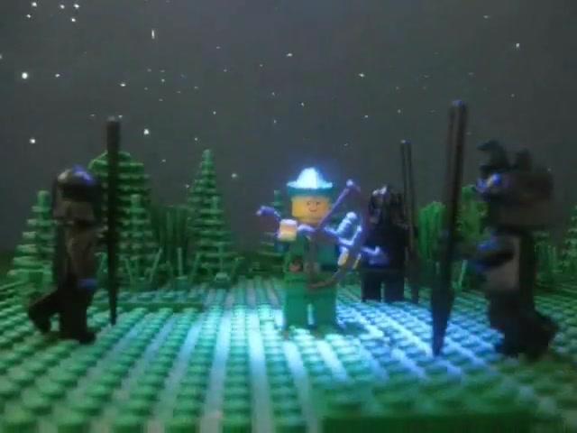 Medieval Lego Guy Versus Dark Knights