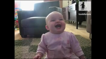 Baby Girl Laughs Hysterically at Dog Eating Popcorn
