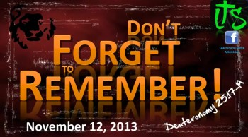 Don't Forget to Remember!