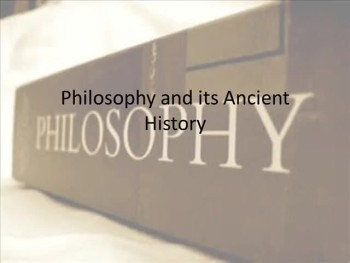 Philosophy and its Ancient History