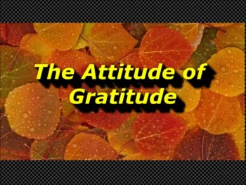 Randy Winemiller - The Attitude of Gratitude