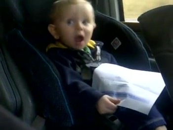 Silly Baby Boy Thinks He's Singing a Taylor Swift Hit - LOL