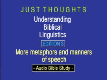 Just Thoughts Understanding Biblical Linguistics Edition 3