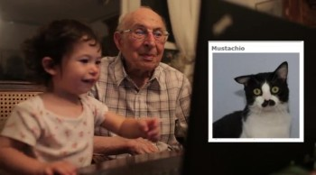 A 91-Year-Old and 18-Month-Old Adorably Spend Time Together Online