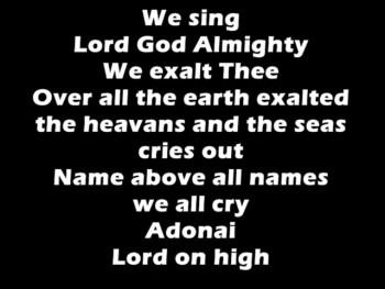 We cry Adonai