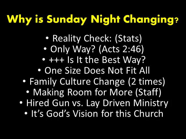 RESTART Amite Baptist Part 4 - Sunday Nights