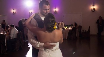 Bride and Brother Surprise Guests During Tribute Dance