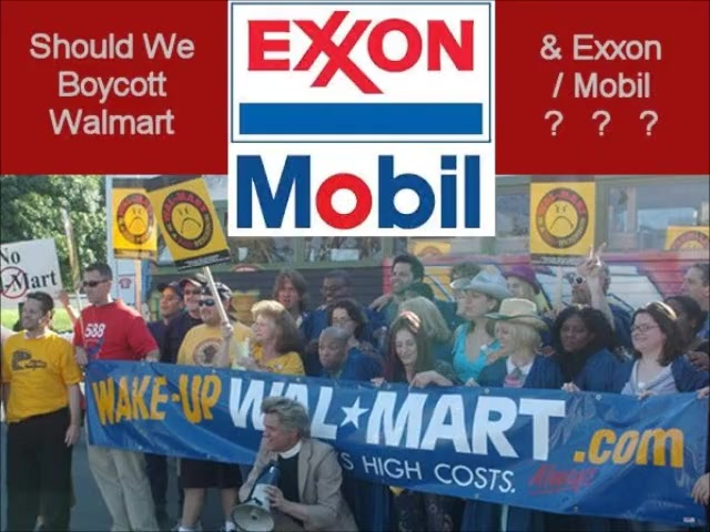 SHOULD WE BOYCOTT WALMART & EXXON-MOBIL? ~ www.RichardAberdeen.com