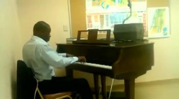 """Warrior Richardson playing """"Jesus Loves Me"""""""