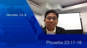 Pastor Mark L. Lastimoso Scripture Verse