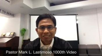 Pastor Mark L. Lastimoso Ministry Video Milestone