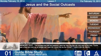 Lesson 7 - Monday February 10, 2014 - In the Very Act - Sabbath School