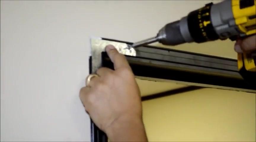 Install interior aluminum frame