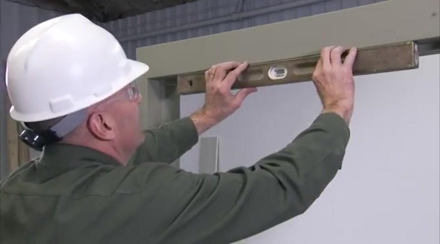 Install masonary frame