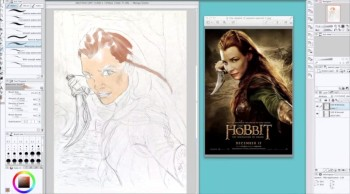 Tauriel Daughter of Mirkwood (speed paint).