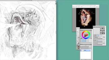 Lets draw Smaug from the hobbit movie