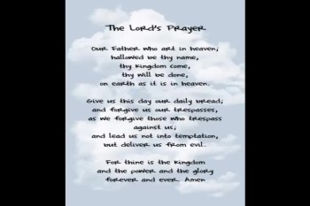 The Lord's Prayer Part Three by Joe La Bianca