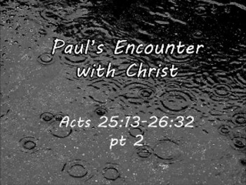 Paul's Encounter with Christ