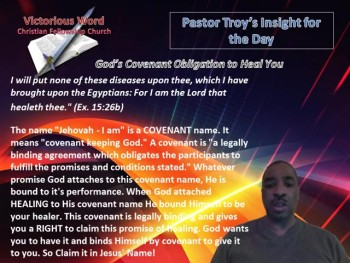 God's Covenant Obligation to Heal You