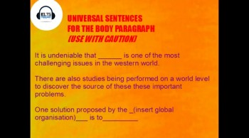 IELTS Vocabulary and EASY ESSAY SENTENCES TO MEMORIZE