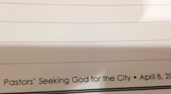 Pastors Seeking God for the City