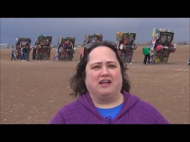 Cadillac Ranch message