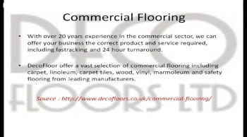 Commercial Safety Vinyl Flooring London