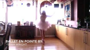 Pro-Straight Ballet En Pointe Praise Dancing