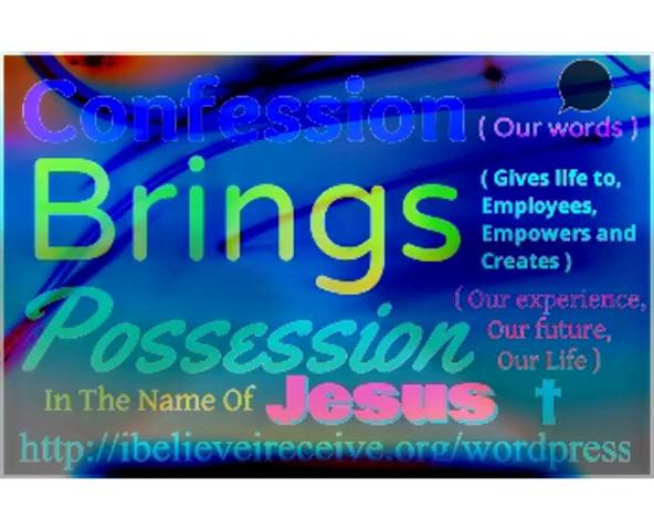 I believe I receive in Jesus' NAME