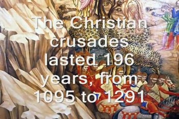 THE CRUSADES: Setting the record stra