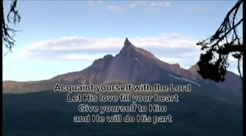 Acquaint yourself with the Lord - Rob Goodfellow