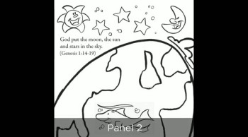 Story of Creation Bible Coloring Card by Memory Cross