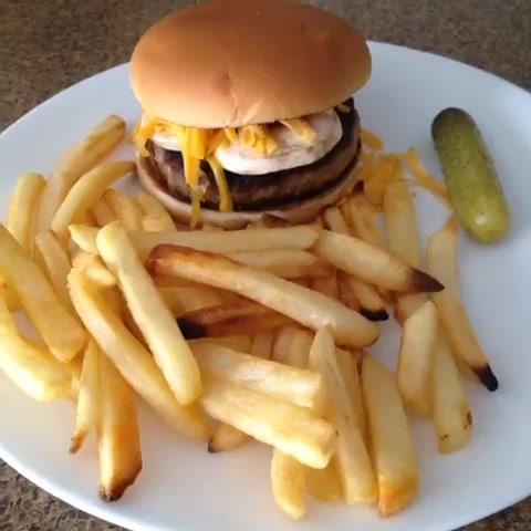 From cheeseburger to real burger