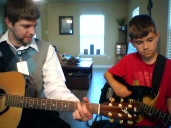 Josh and I jam out...2