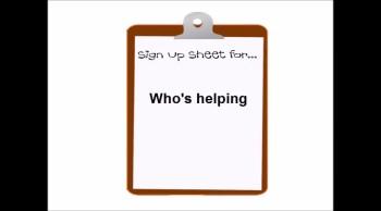 Sign-Up Sheet Video